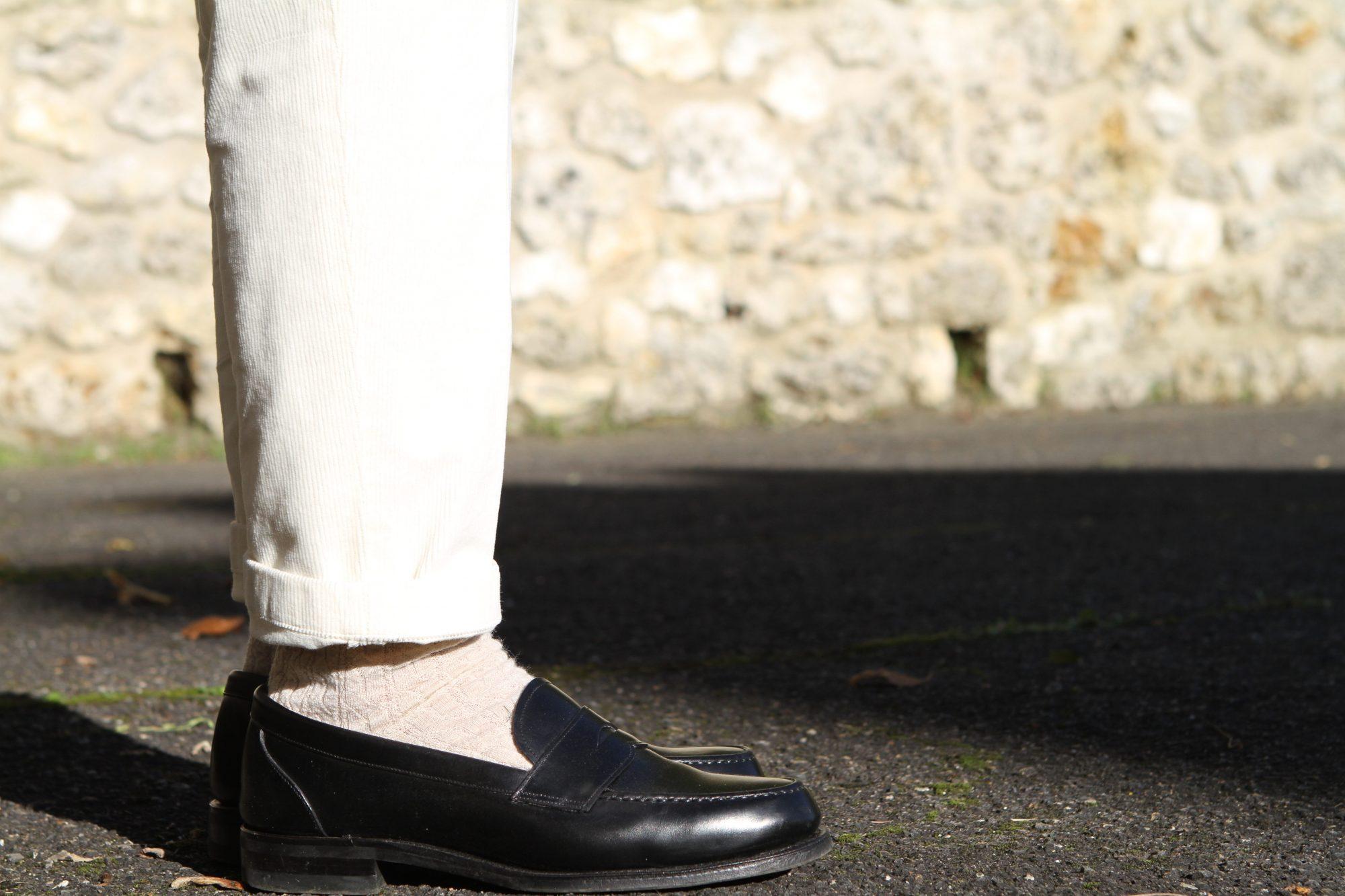 détail chaussures look Maison Cornichon