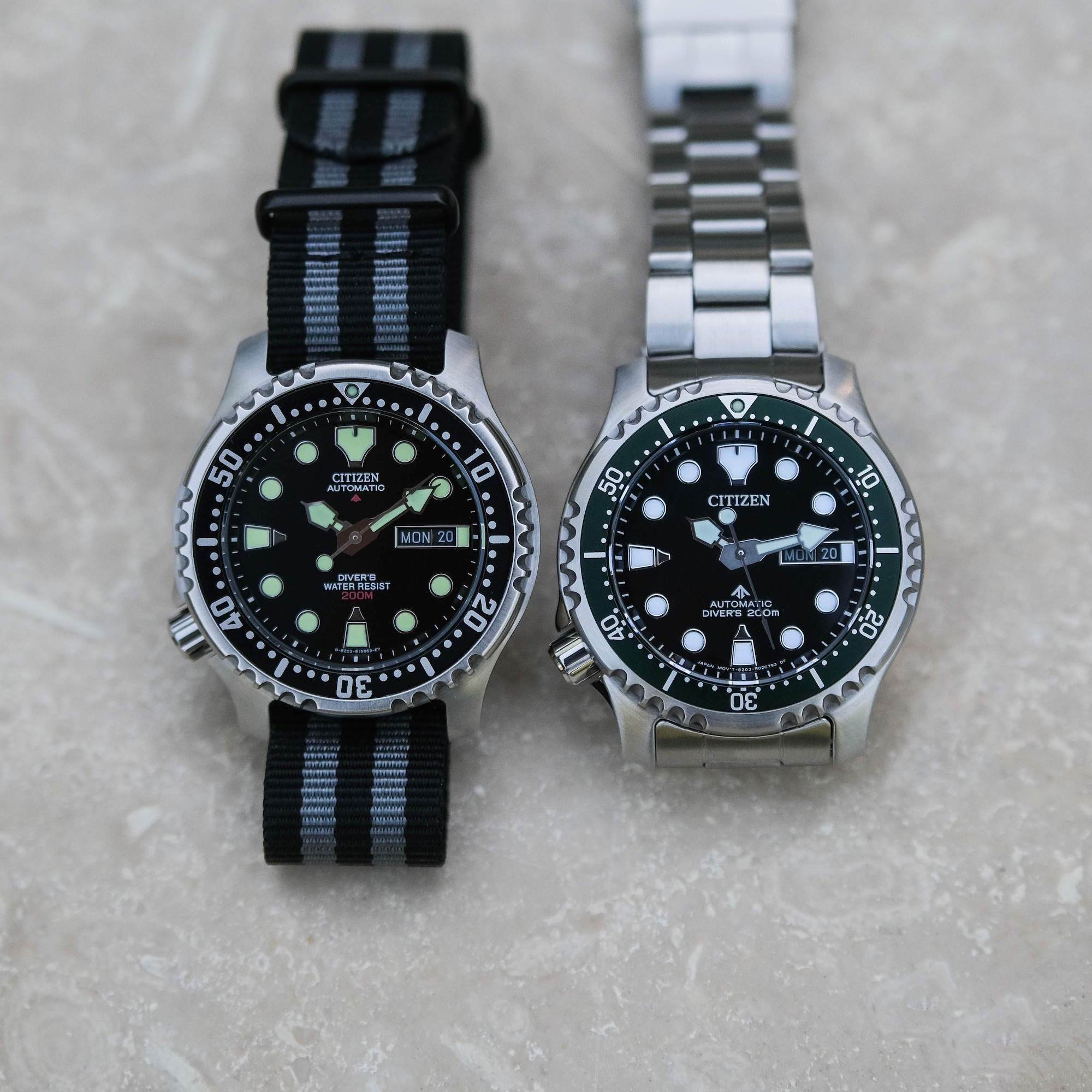 Citizen NY0084 vs NY0040