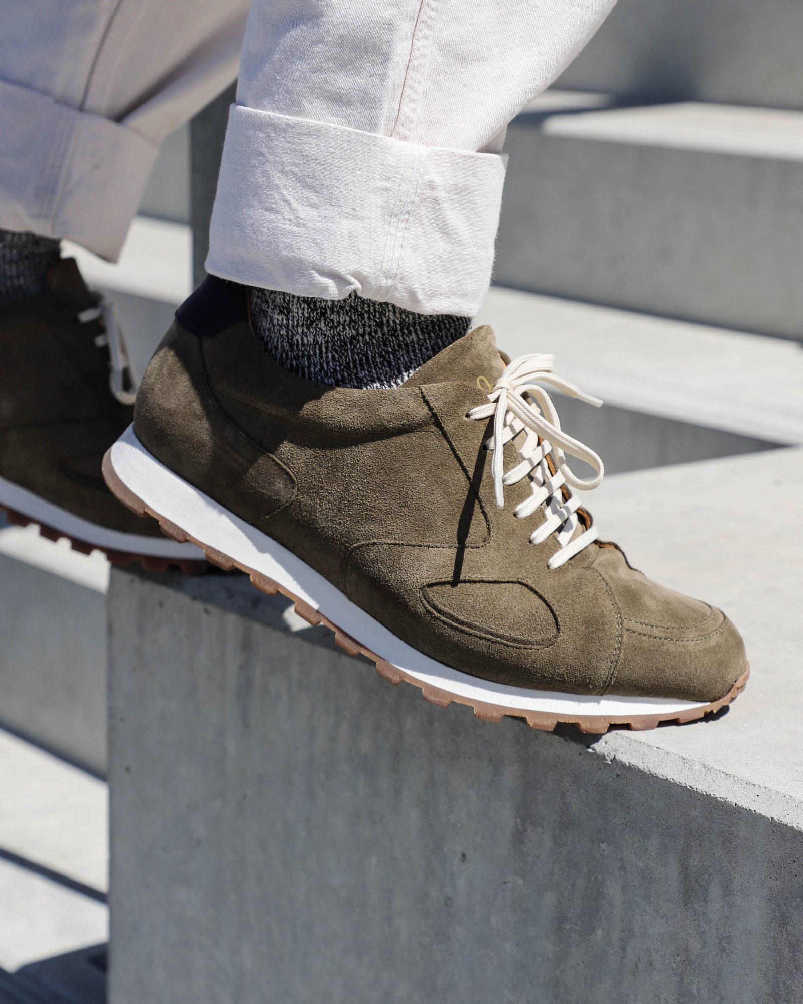 Sneakers Malfroid Sneakers 310 veau velours vert olive