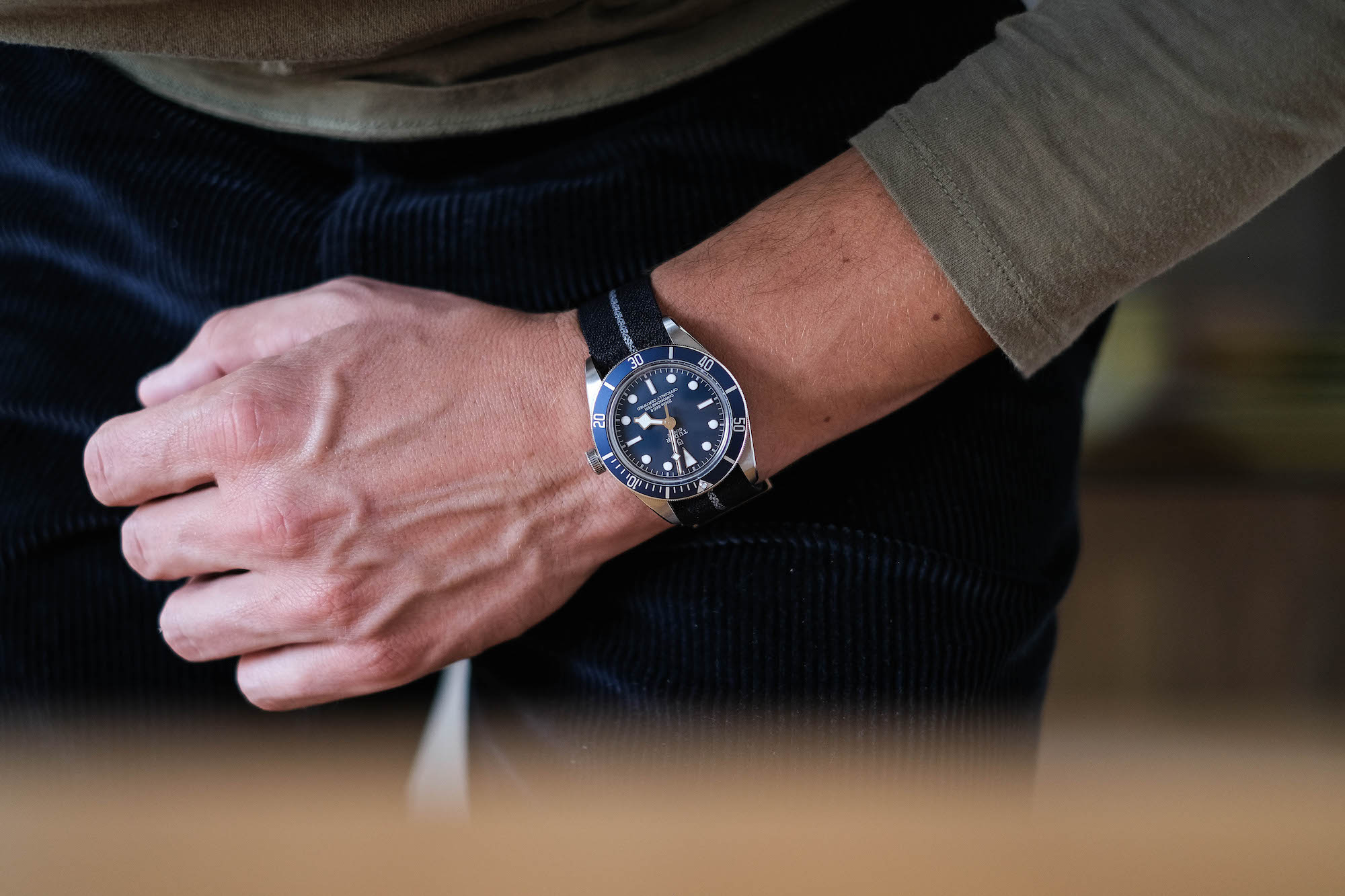test avis Tudor black bay fifty eight navy blue M79030B