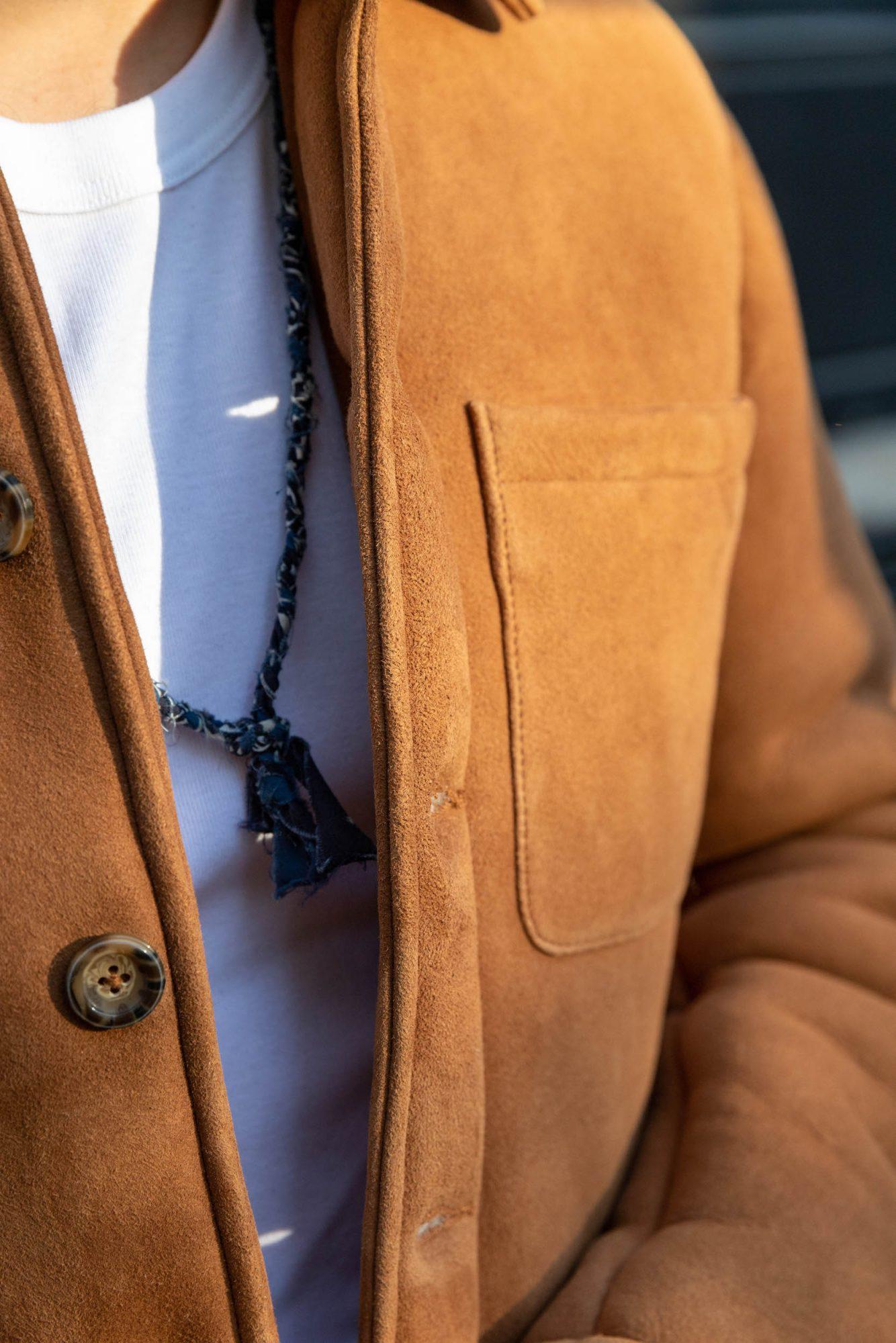 cuir suede peau lainee