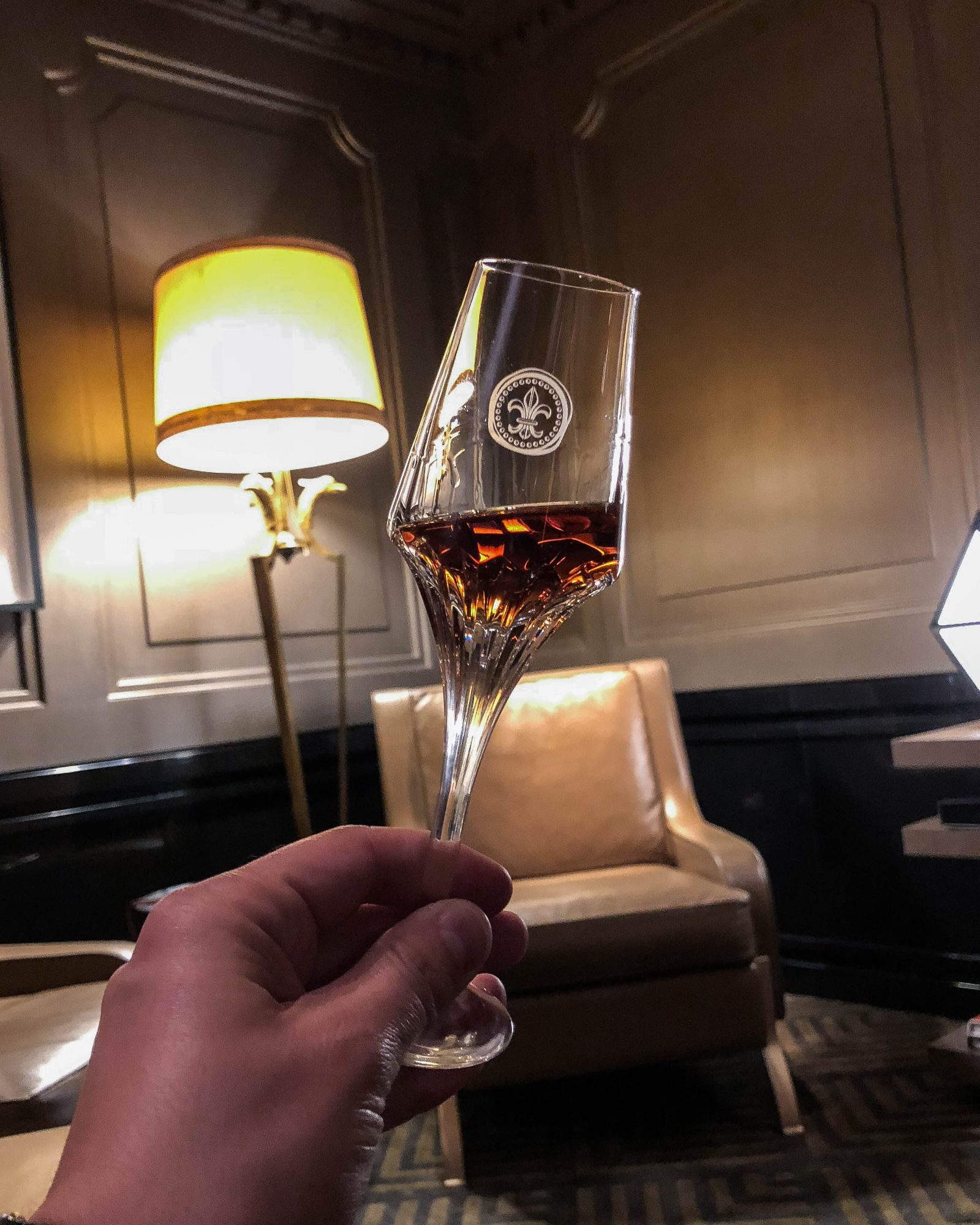 verre cristal cognac louis XIII