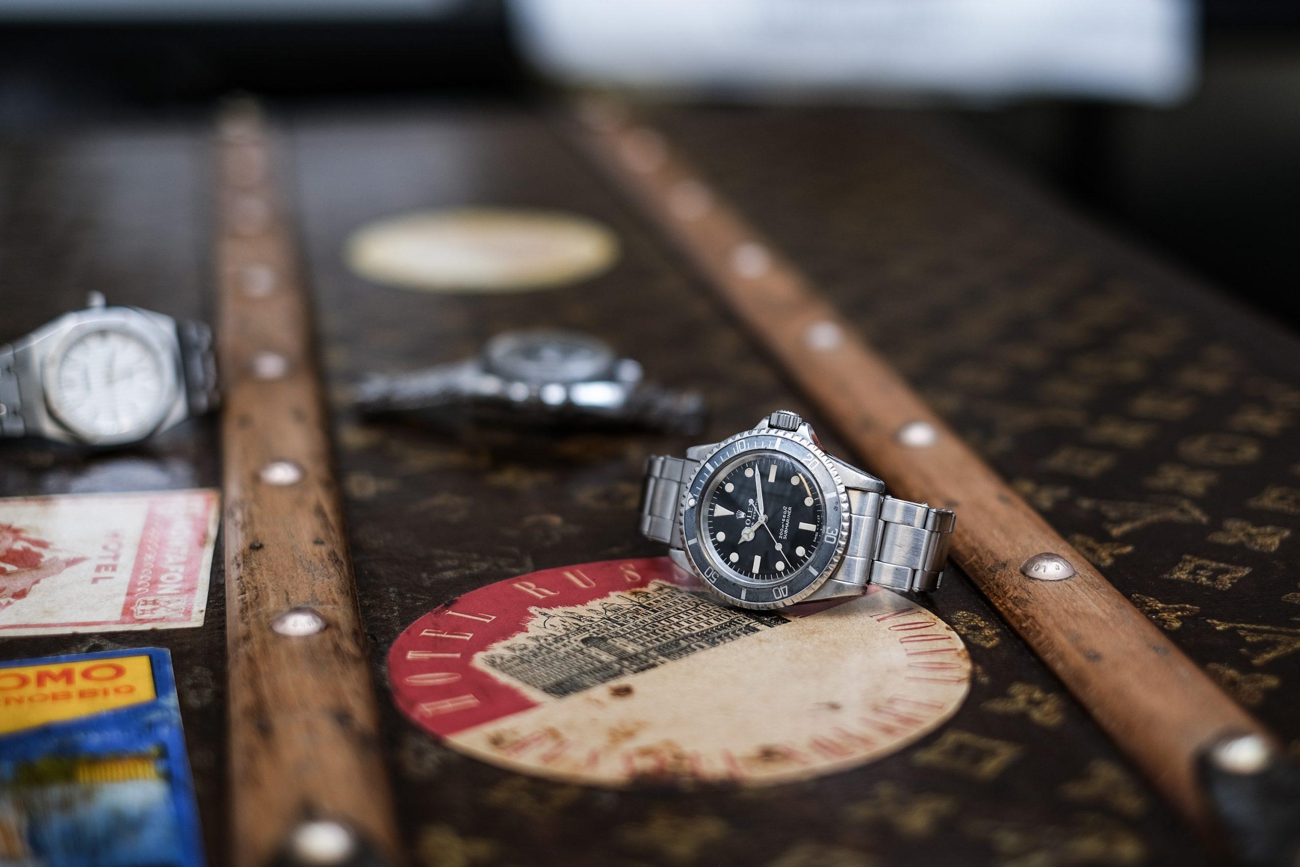 Montre Rolex Submariner 5513 meters first