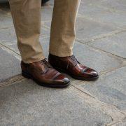 boots homme lacets marron