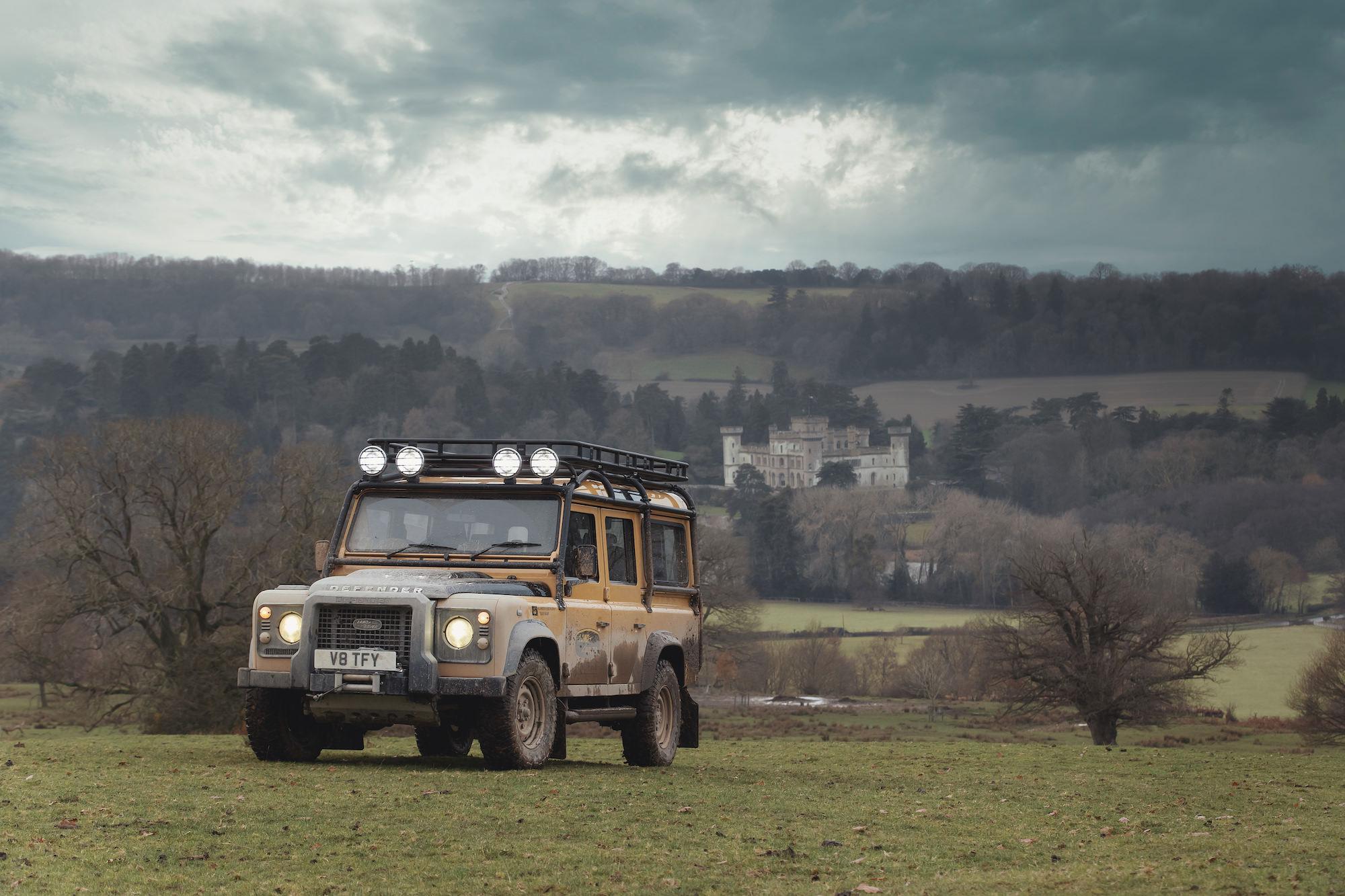defender land rover Eastnor Castle Herefordshire