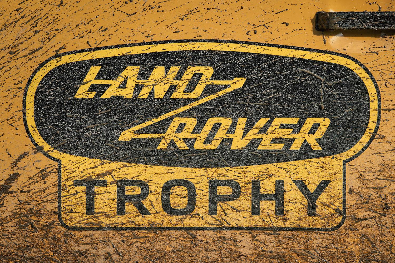land rover trophy sticker