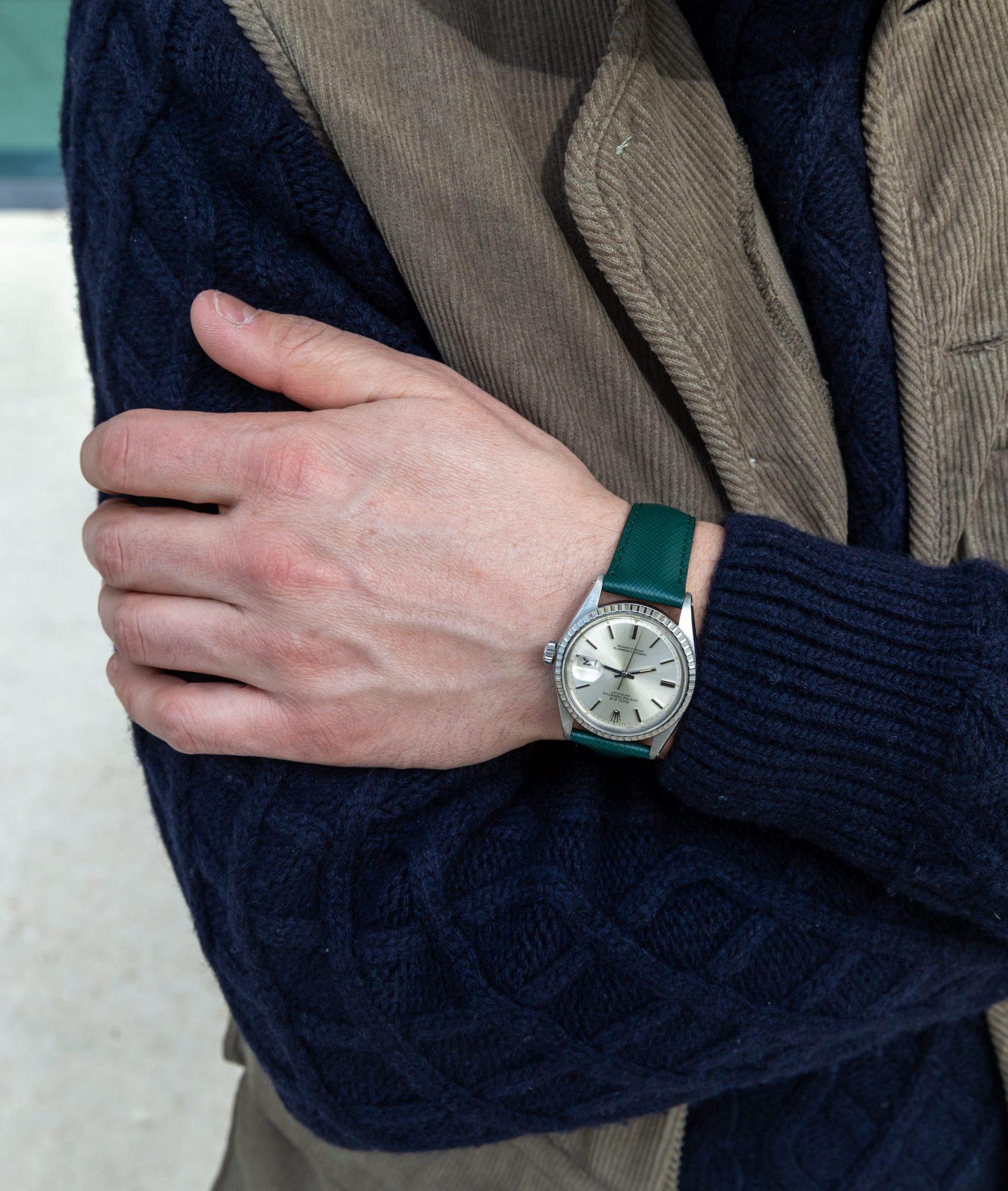 Rolex Datejust 1603 bracelet vert