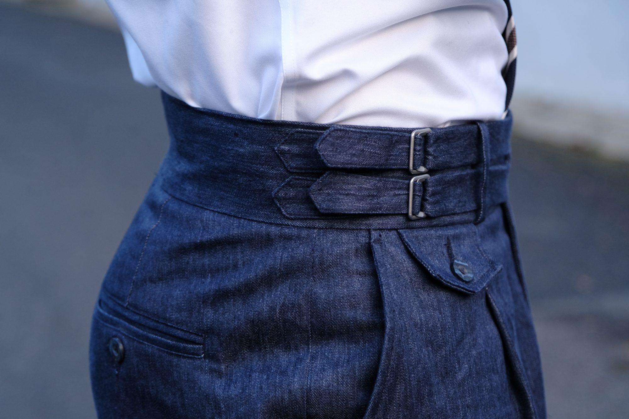 taille pantalon sartorial denim abensia
