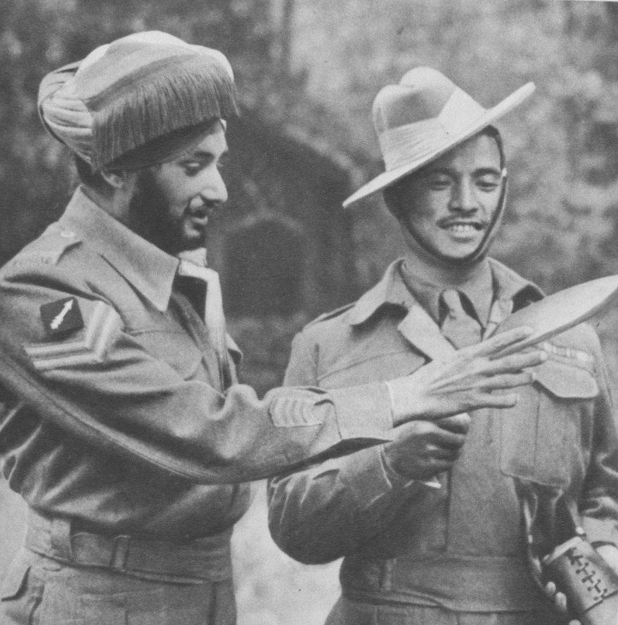 Soldats gurkha Abensia