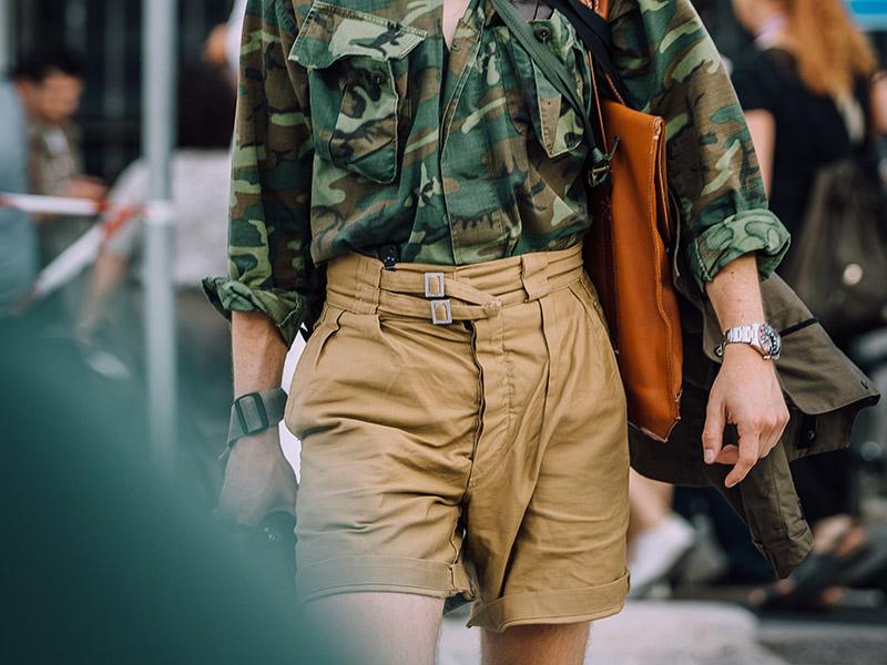 Outfit short gurkha et chemise camo armée