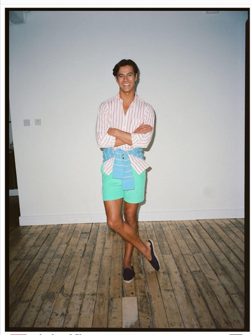 Outfit coloré chemise short court Drake's